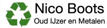Boots Oud IJzer en Metalen Logo